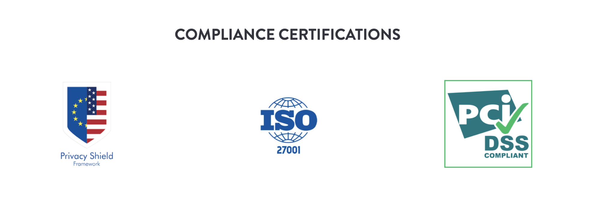 data compliance certifications - event trends