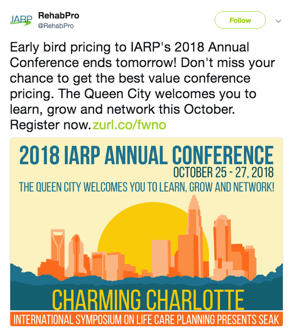 How IARP leverages an eye-catching banner to drive event registrations