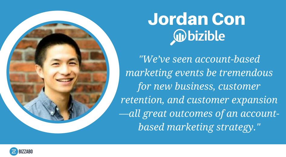 Jordan Con from Bizible, an ABM SaaS solution.