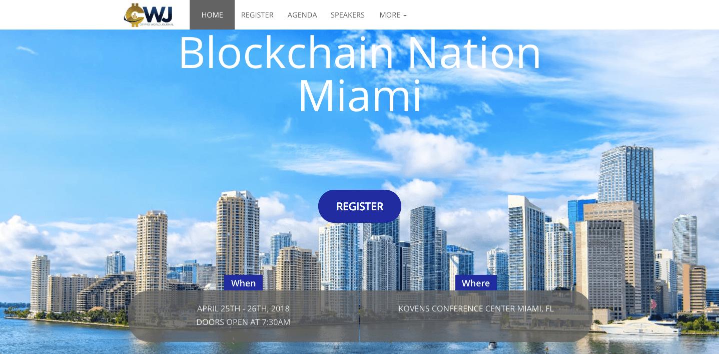 Blockchain Nation Miami's event website