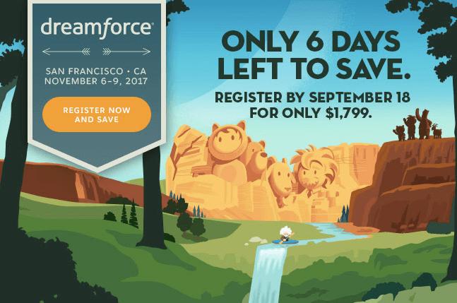 Dreamforce early bird offer
