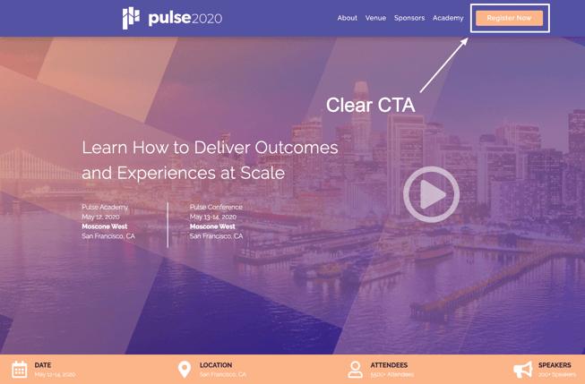 Pulse 2020 CTA - Event Registration Guide