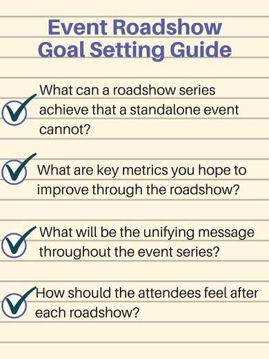 Event Roadshow goal setting guide - Event Roadshow Guide