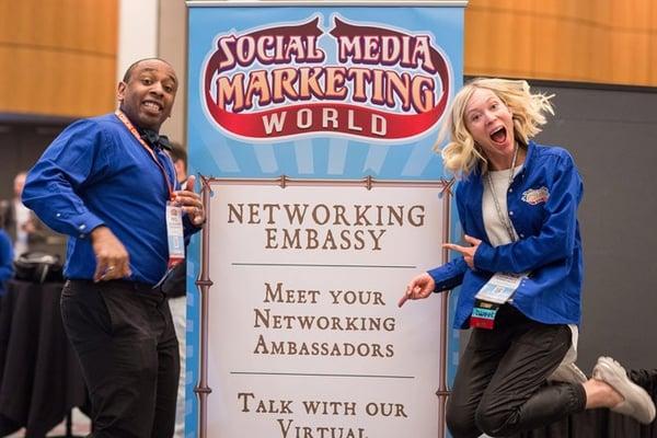 Ambassadors at Social Media Marketing World creating positive vibes