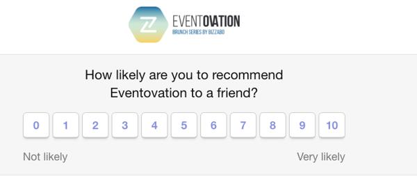NPS Survey to measure attendee satisfaction