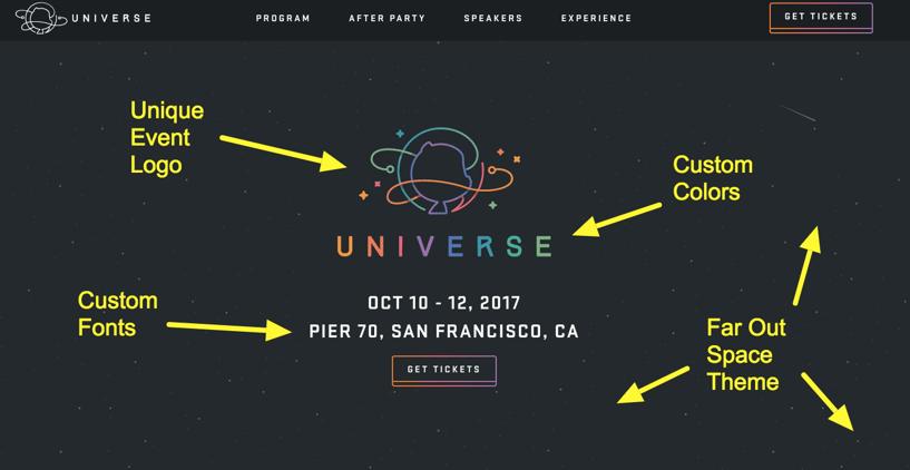 Github's Event Website