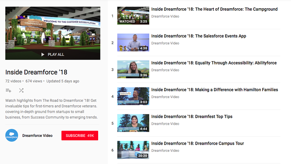 How Dreamforce leverages YouTube to drive ticket sales