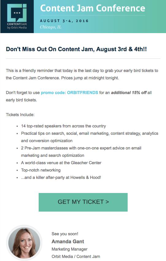 Orbit Media event email