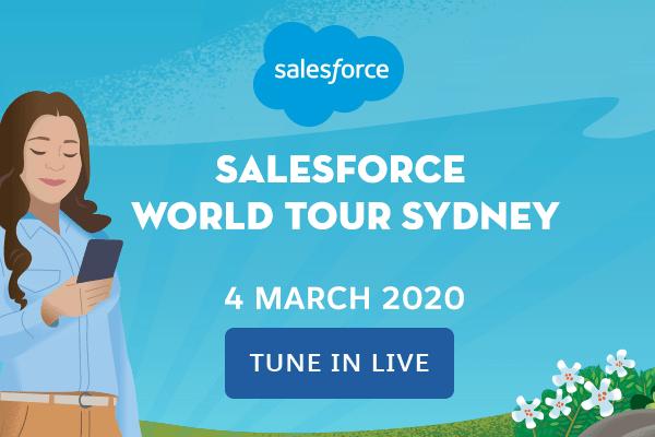 Salesforce World Tour Sydney - Virtual Event Examples