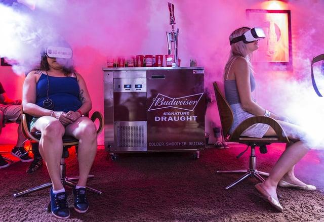 Budweiser Beer Garden using oculus at SXSW