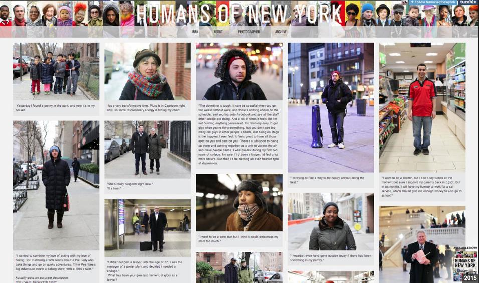 Humans of New York Idea