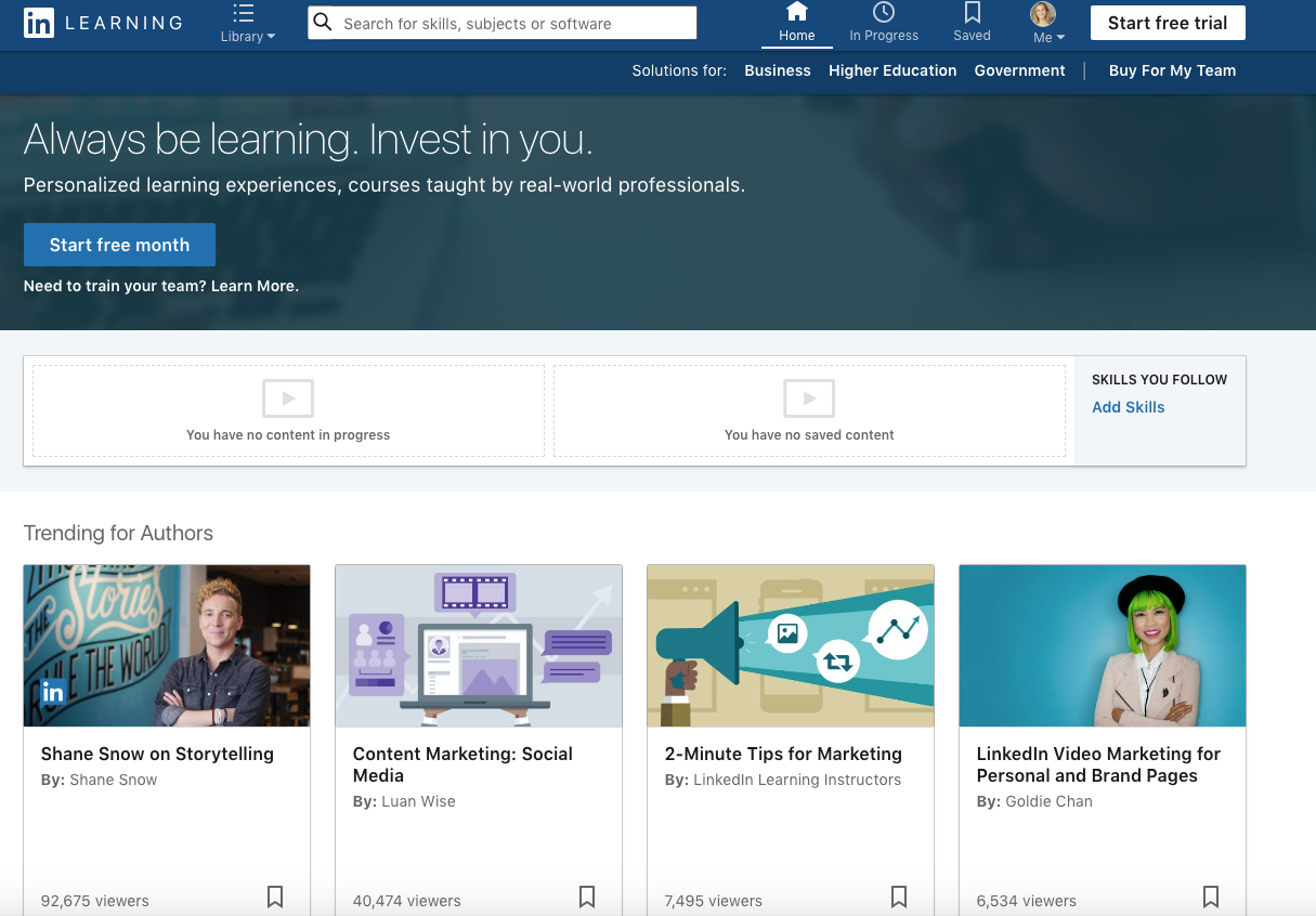 LinkedIn Skill Course
