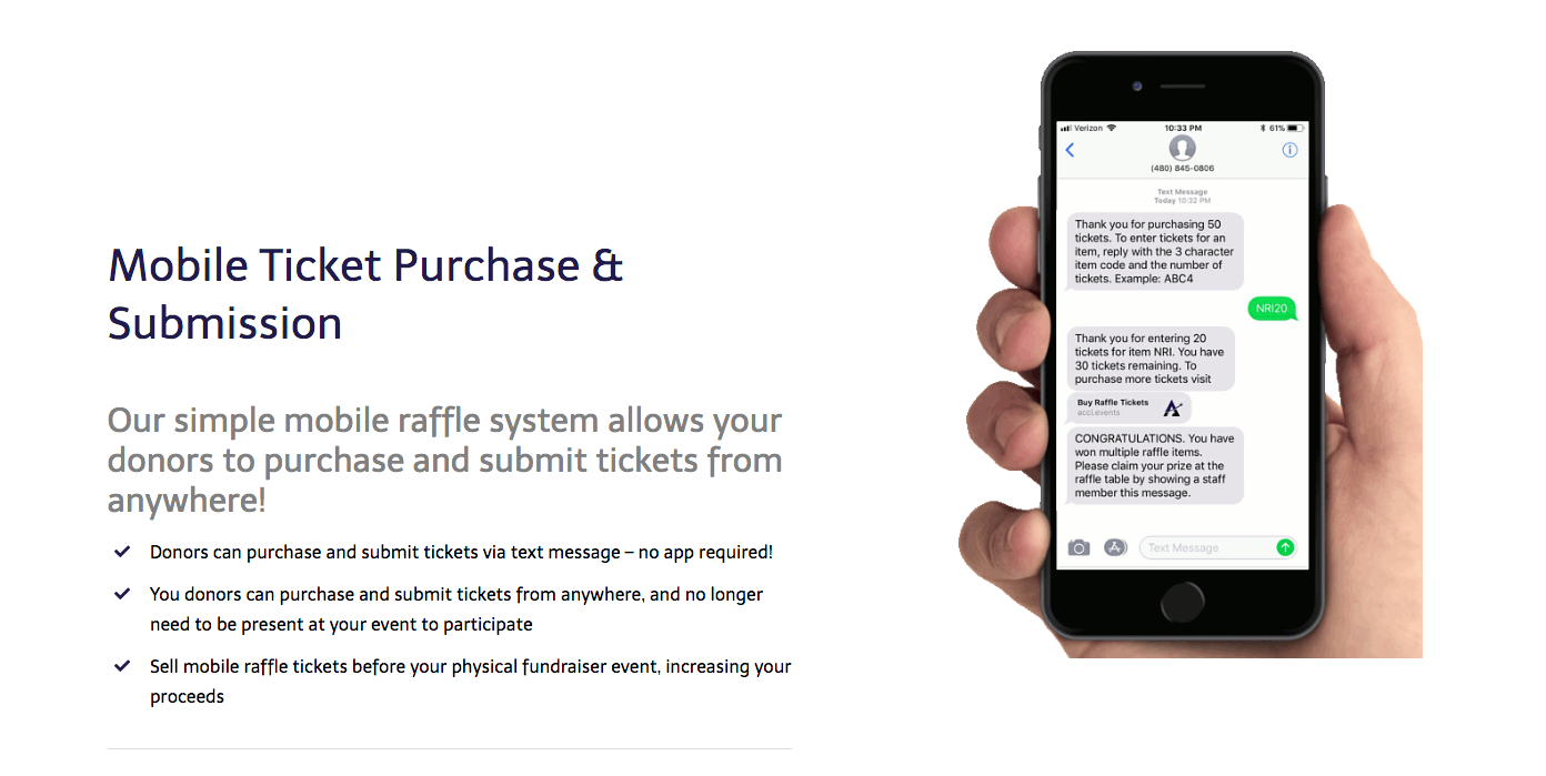 An example of ticket raffle