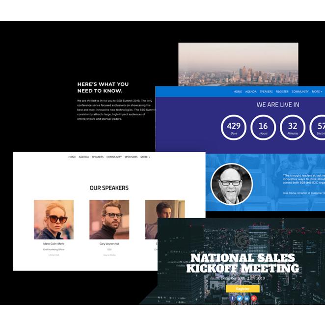 Bizzabo Event Websites for Publishers
