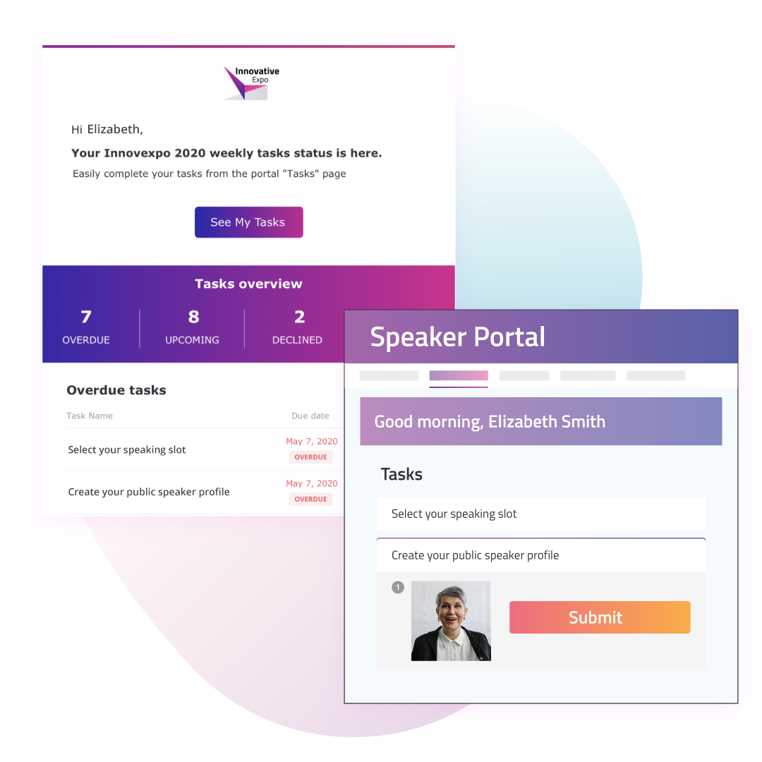 Streamline Communication and Collaboration with Speaker Management Software - Visuals